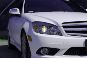3M1080 Matte White Mercedes Wrap
