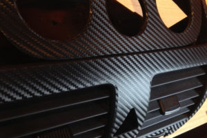 Black Carbon Fiber Wrap - Dashboard