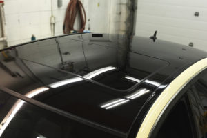 gloss black wrapped roof